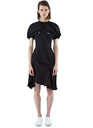 J.W.Anderson Mid Length Ruched Sleeve Dress Black