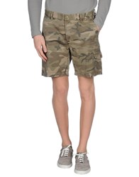 Hydrogen Trousers Bermuda Shorts Men Military Green