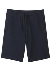 Vince Navy Thermal Knit Cotton Shorts