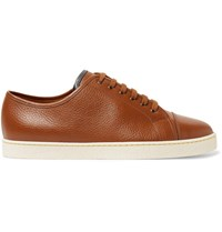 John Lobb Levah Full Grain Leather Sneakers Tan