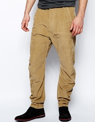 Religion Drop Crotch Cord Trousers Tan