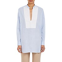 Tomorrowland Women's Pique Oversized Shirt Light Blue White Light Blue White