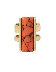 Kenneth Cole Coral Canyon Semi Precious Stone Ring Red