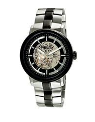 Kenneth Cole Two Tone Stainless Steel Watch 10026785 Silver Black