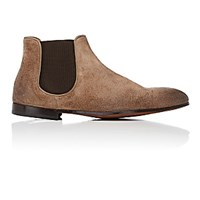 Doucal's Men's Oiled Chelsea Boots Nude
