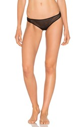 Only Hearts Club Tulle Ruched Thong Black