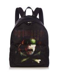 Givenchy Army Skull Print Nylon Backpack Black Multi