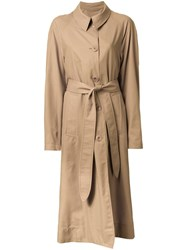 Christophe Lemaire Classic Overcoat Brown