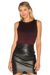 Heather Ombre Shirred Side Tank Burgundy