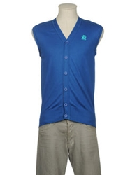 Nayandei Company Sweater Vests Blue