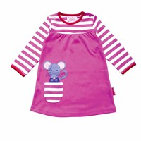 Toby Tiger Mouse T Shirt Dress Pink Purple
