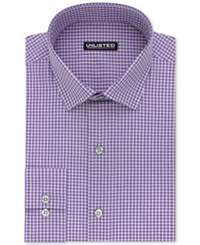 Unlisted Kenneth Cole Men's Slim Fit Check Dress Shirt Purple