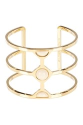 Vince Camuto Milky Resin Cutout Cuff Metallic