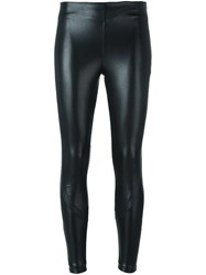Ermanno Scervino Pleather Skinny Trousers Black