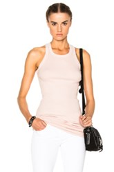 Rick Owens Drkshdw By Rib Tank Top In Rose