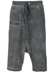 Lost And Found Rooms Zipped Shorts Grey