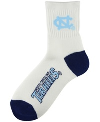 Wincraft For Bare Feet North Carolina Tar Heels Ankle Socks White