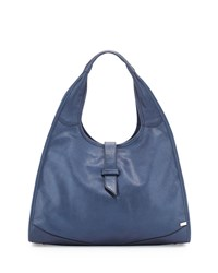 New Yorker Hobo Bag Blue Metallic Sjp By Sarah Jessica Parker