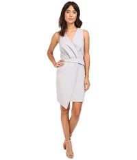 Adelyn Rae Woven Sleeveless Surplice Sheath Dress Grey Women's Dress Gray