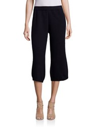 Red Valentino Virgin Wool Cropped Pants Navy