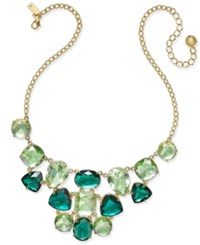 Kate Spade New York Gold Tone Green Crystal Bubble Necklace