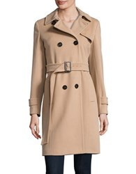 Marella Wool Trench Coat Camel