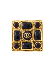 Chanel Vintage Logo Cocktail Ring