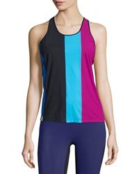 Monreal London Colorblock Racer Sport Tank Berry Pink Women's Size L