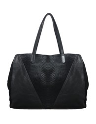 Sondra Roberts Leather And Calf Hair Tote Black