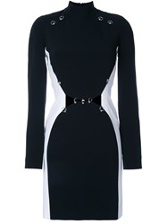 Thierry Mugler Fitted Long Sleeve Dress Black