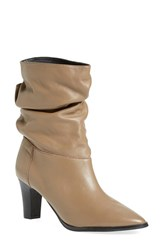 Women's Adrianna Papell 'Noelle' Ruched Mid Boot Latte Mestizo Leather