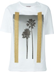 Palm Angels Palm Tree Print T Shirt White