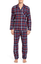 Majestic International Men's Deck The Halls Plaid Cotton Pajamas