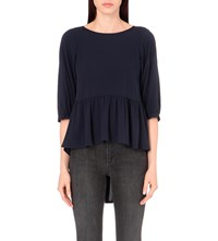 French Connection Empire Woven Top Nocturnal