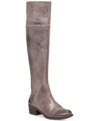 Vince Camuto Bendra Tall Wide Calf Boots Women's Shoes Bomber Grey