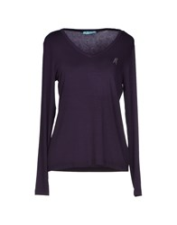Guess By Marciano T Shirts Dark Purple