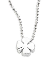 Alex Woo Sterling Silver Four Leaf Clover Necklace
