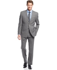 Andrew Marc New York Marc New York By Andrew Marc Grey Plaid Suit