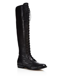 Belstaff Hepworth Lace Up Tall Boots Black