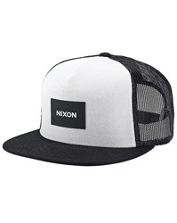 Nixon Black And White Team Trucker Cap