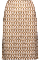 Missoni Crochet Knit Cotton Blend Skirt Mushroom