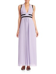 Bcbgmaxazria Margarette Color Blocked Maxi Dress Lilac