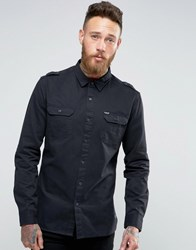 Firetrap Military Shirt Black