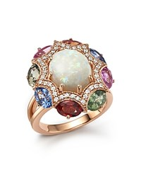 Bloomingdale's Diamond Multi Sapphire And Opal Statement Ring In 14K Rose Gold White Multi