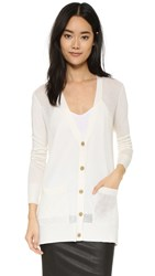 Atm Anthony Thomas Melillo Pointelle Front Cardigan Ivory