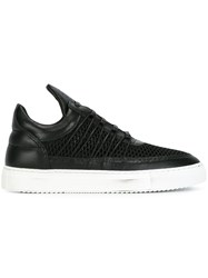 Filling Pieces 'Low Top Cane' Sneakers Black