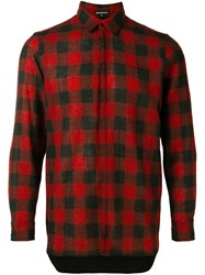 Ann Demeulemeester Classic Plaid Shirt Red