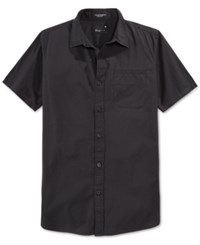 Tavik Men's Porter Abstract Print Short Sleeve Shirt Jet Black