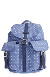 Herschel Supply Co. 'Dawson Mid Volume' Backpack Ivory Limoges Crosshatch White Dot