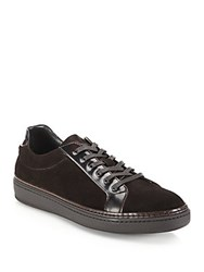 To Boot Evans Suede And Leather Sneakers Tmoro Brown